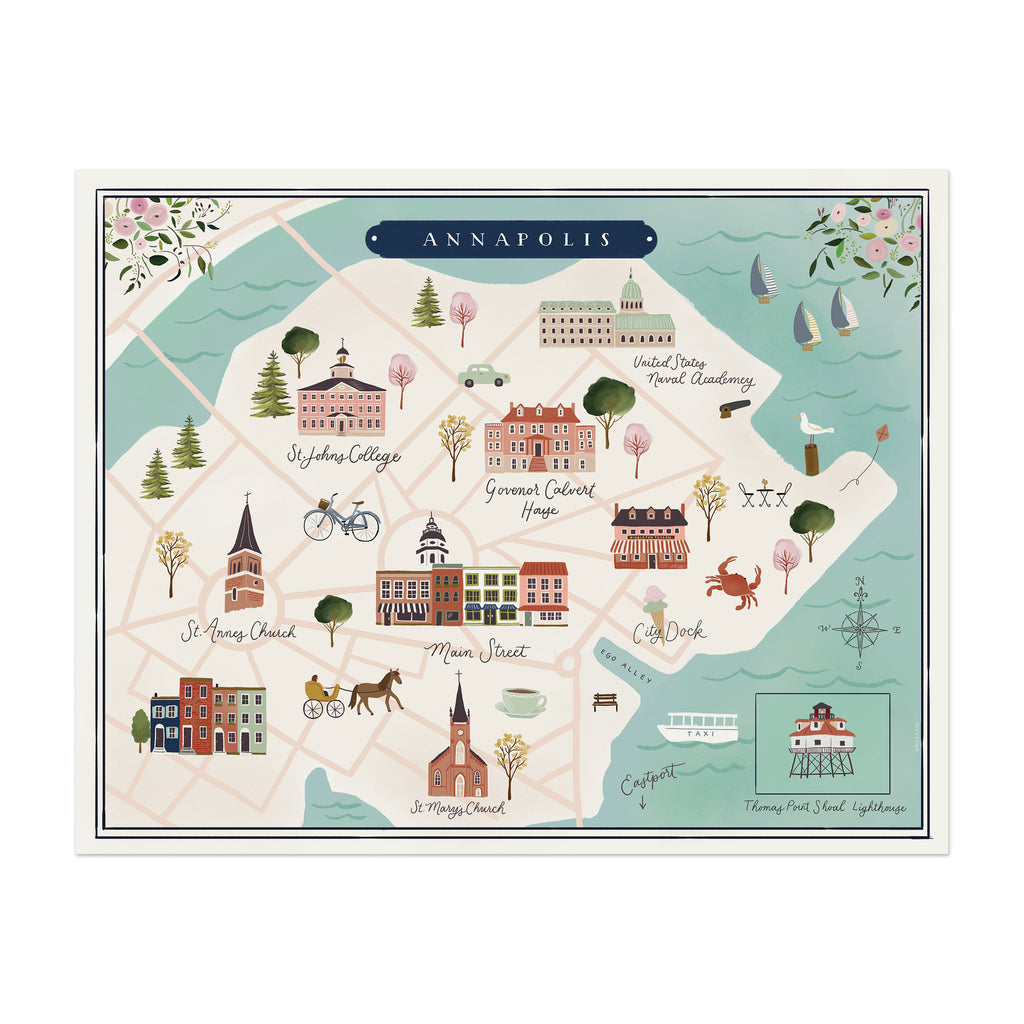 Annapolis Map Print Anchor Point Paper Co - Anápolis map