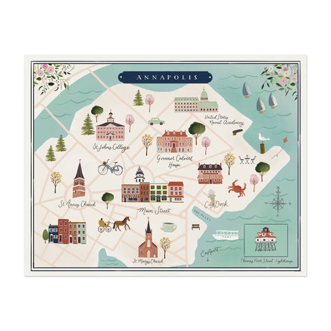 Annapolis Map Print - Anchor Point Paper Co.
