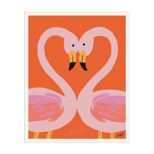 Flamingo Love Print - Anchor Point Paper Co.