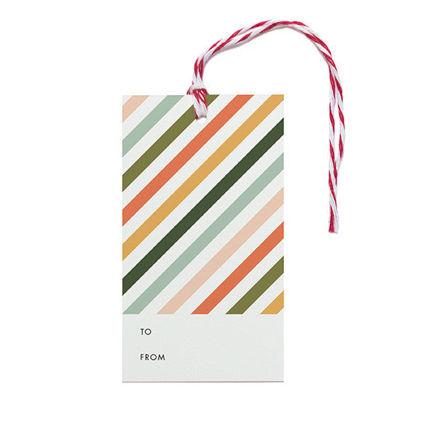 Striped Gift Tags - Anchor Point Paper Co.