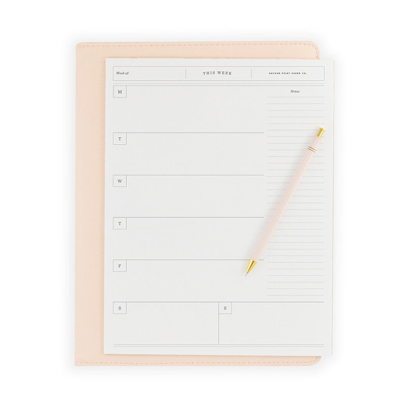 Weekly Notepad - Anchor Point Paper Co.
