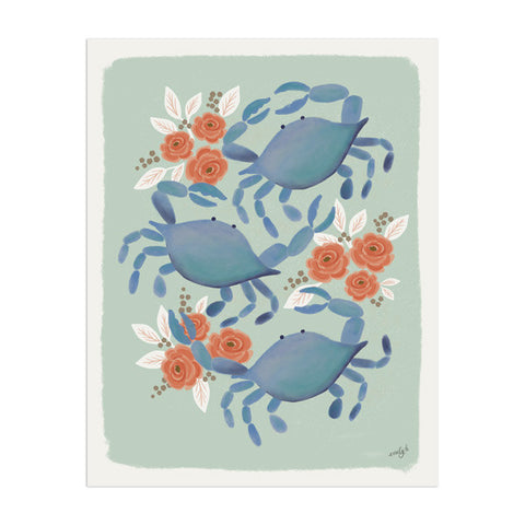 Blue Crab Trio - Anchor Point Paper Co.