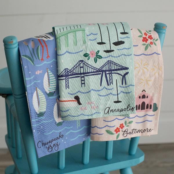 """Charm City"" Tea Towel - Anchor Point Paper Co."