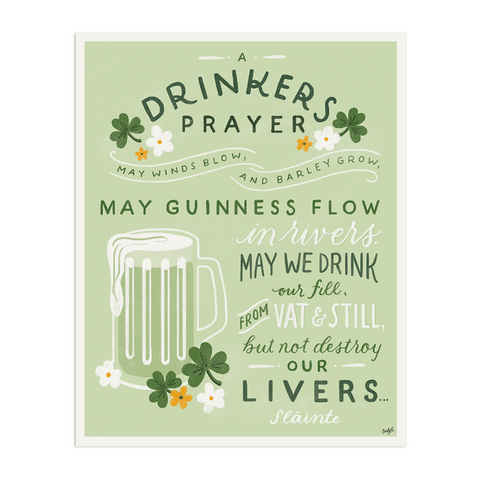 Drinkers Prayer Art Print - Anchor Point Paper Co.