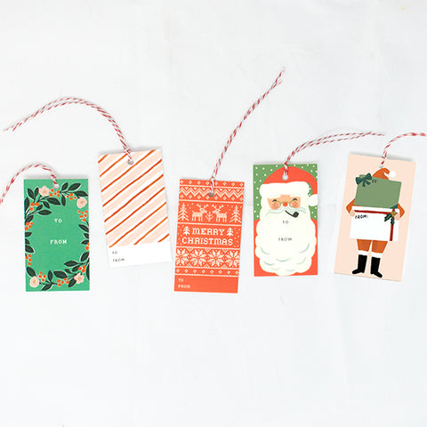 Holiday Assorted Gift Tags - Anchor Point Paper Co.