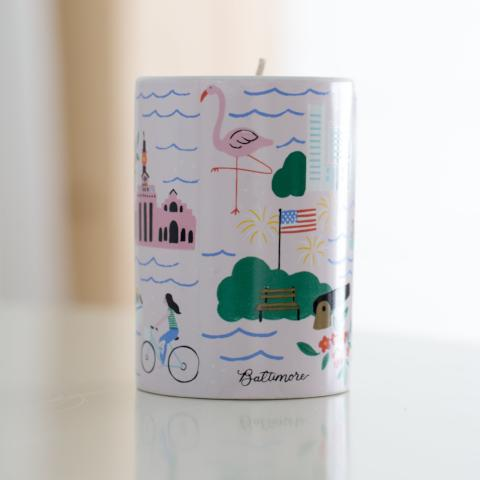 "Baltimore ""Charm City"" Candle - Anchor Point Paper Co."