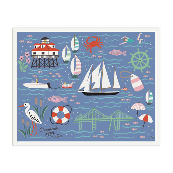 "Chesapeake Bay ""Chesapeake"" Art Print - Anchor Point Paper Co."