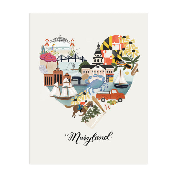 I Heart Maryland by Anchor Point Paper Co.