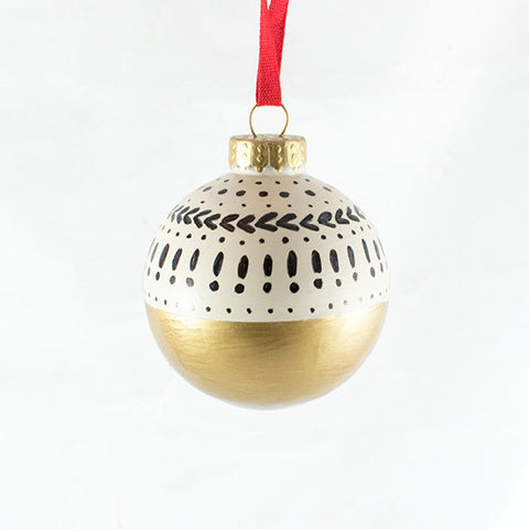 Gold Colorblock Ornament - Anchor Point Paper Co.