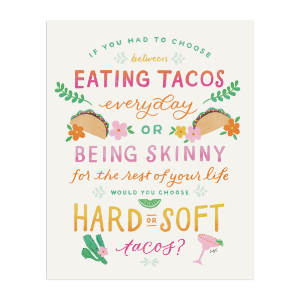 Taco Art Print - Anchor Point Paper Co.