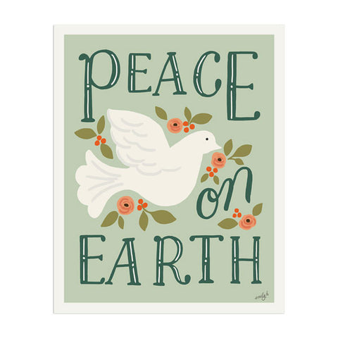 Peace On Earth Art Print - Anchor Point Paper Co.