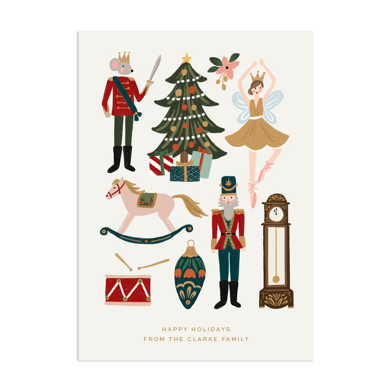 Nutcracker Custom Holiday Greeting - Anchor Point Paper Co.