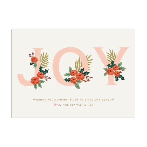 Joy Custom Holiday Greeting - Anchor Point Paper Co.