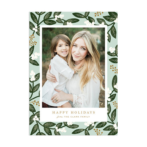 Mistletoe Custom Holiday Greeting - Anchor Point Paper Co.