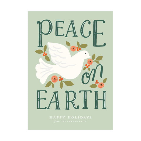 Peace On Earth Custom Holiday Greeting - Anchor Point Paper Co.