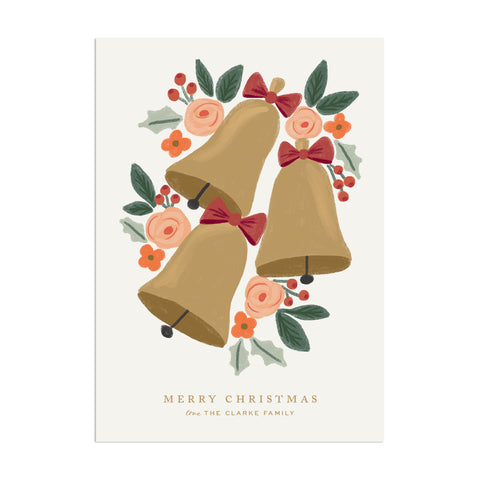 Jingle Bells Custom Holiday Greeting - Anchor Point Paper Co.
