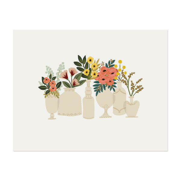 Vases Print - Anchor Point Paper Co.