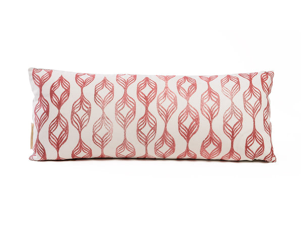 Handprinted Spiral Pillow