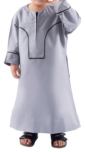 MADINA OMANI GREY KIDS & BOYS - Mashroo