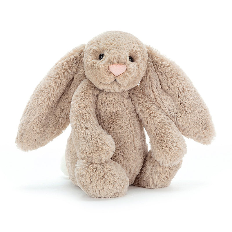 PLUSH - SMALL BEIGE BASHFUL BUNNY 7""