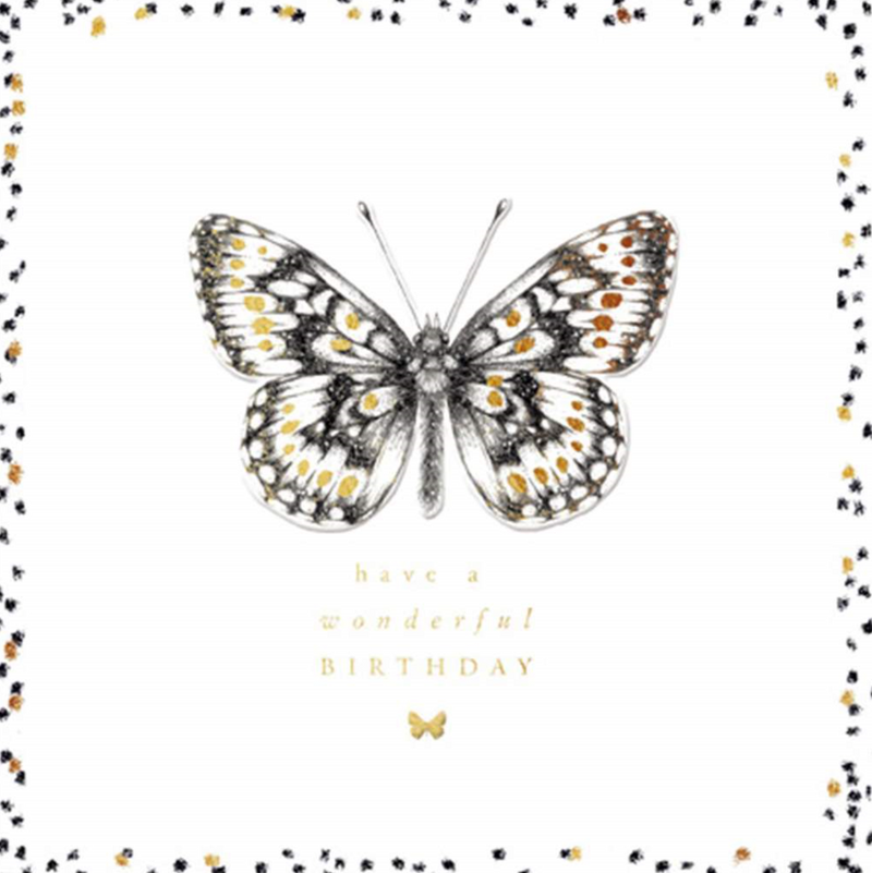 CARD - BIRTHDAY - BUTTERFLY