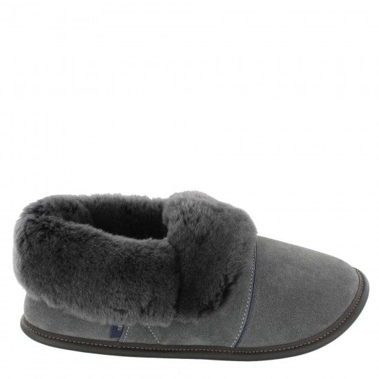 SLIPPERS - MEN'S GARNEAU SHEEPSKIN SLIPPERS, CHARCOAL