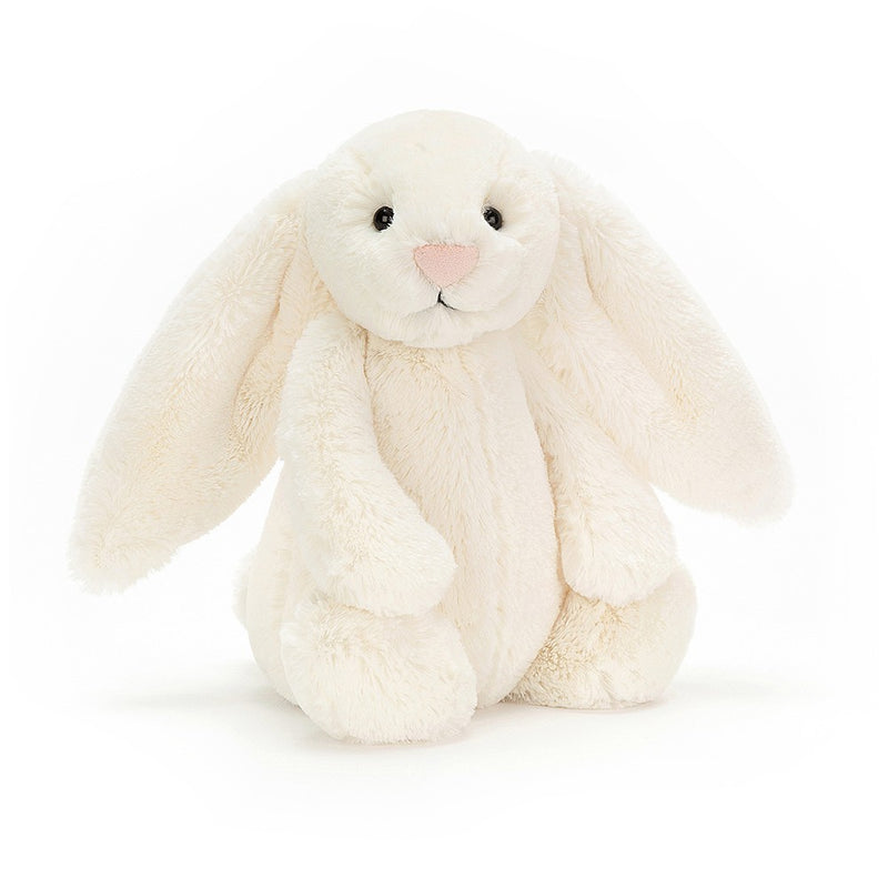 PLUSH - MEDIUM CREAM BASHFUL BUNNY 12""