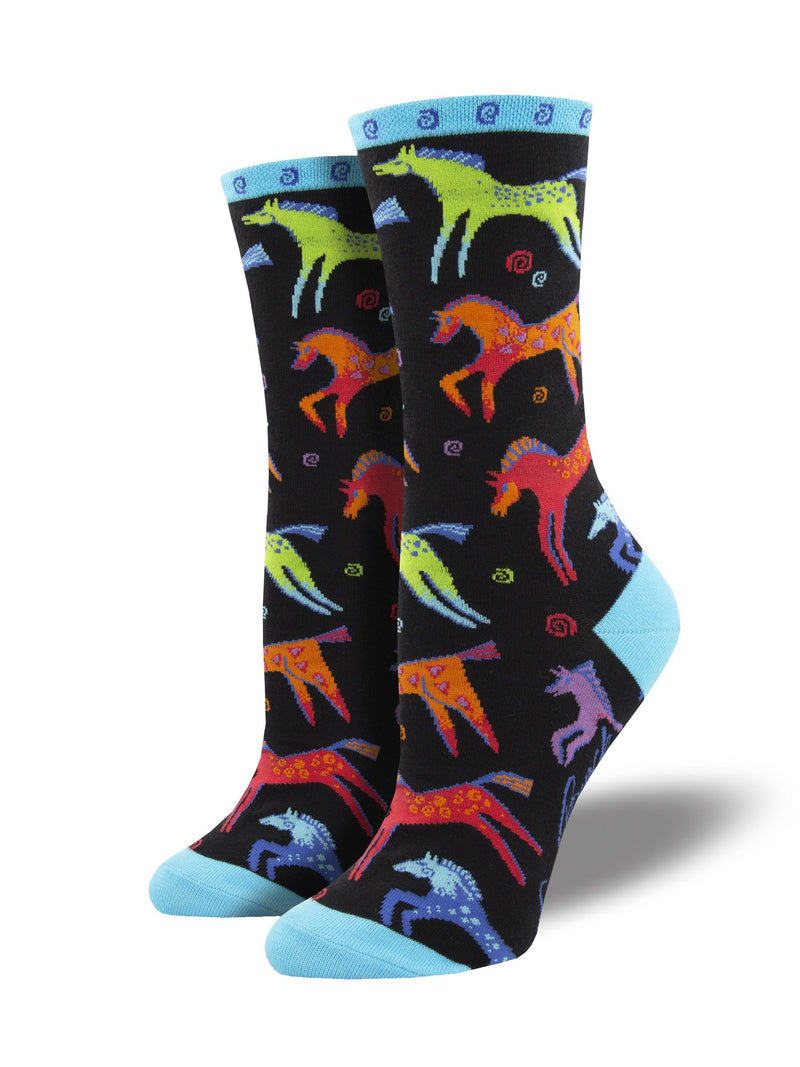 SOCKS - WOMEN'S 'DANCING HORSES' SOCKS