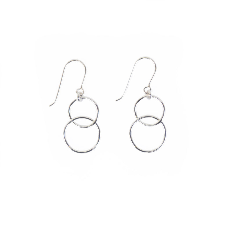 EARRINGS - TASHI STERLING SILVER - INTERLOCKING CIRCLES