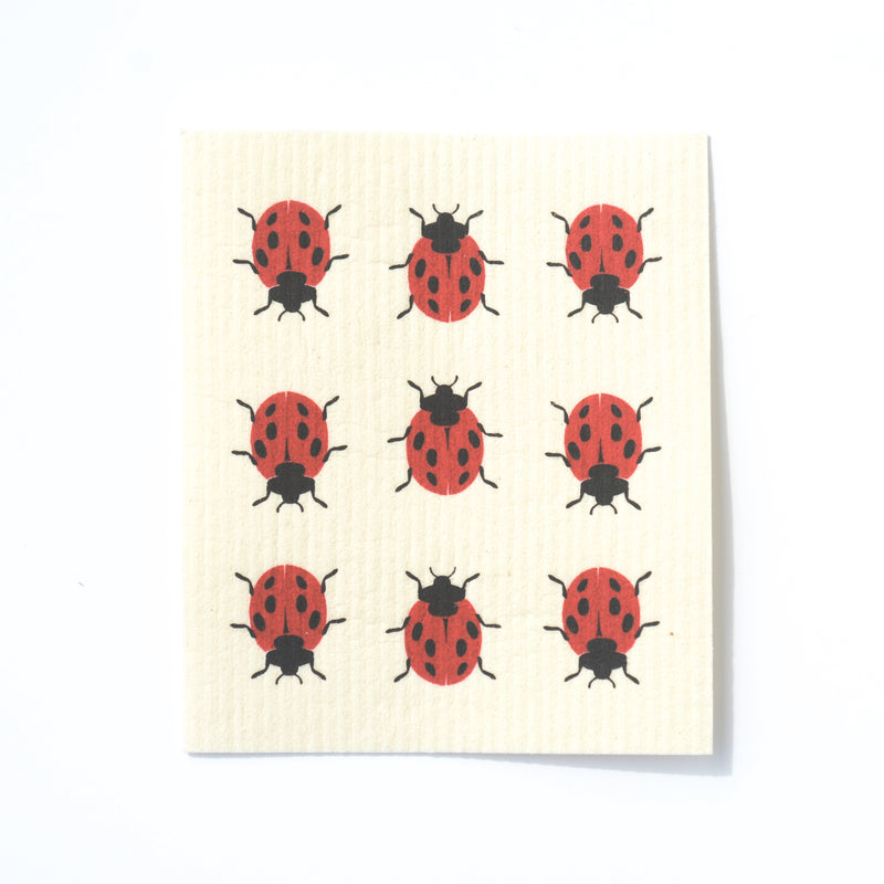 CLEANING CLOTHS - SWEDISH DISHCLOTHS - LADYBUG