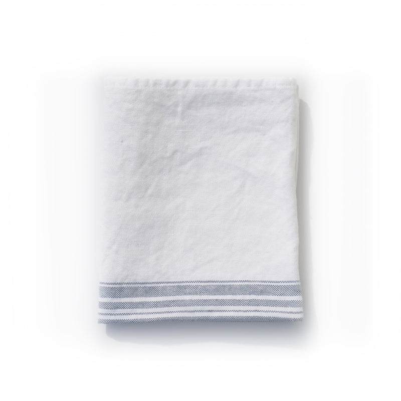 HAND TOWEL - LINEN, WHITE