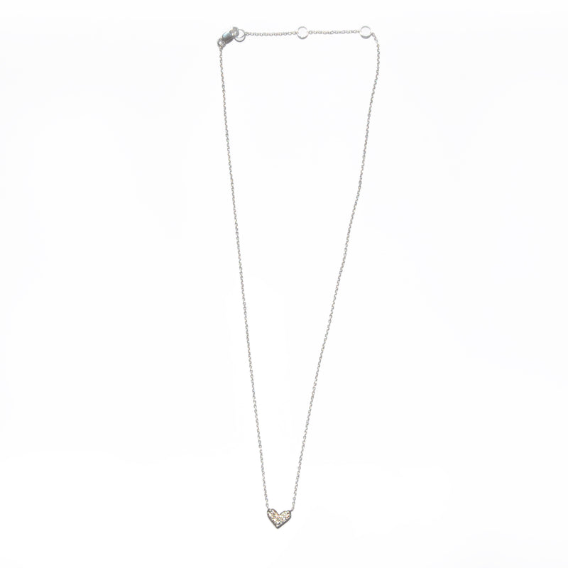 NECKLACE - TASHI STERLING SILVER - PAVÉ HEART