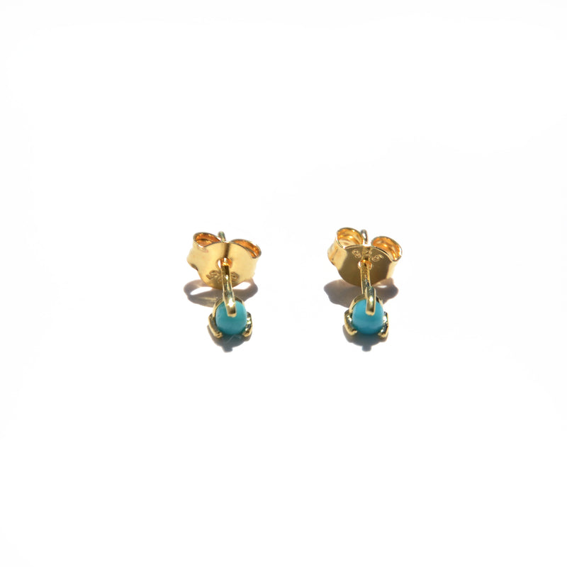 EARRINGS - TASHI 14 KARAT GOLD VERMEIL - TURQUOISE
