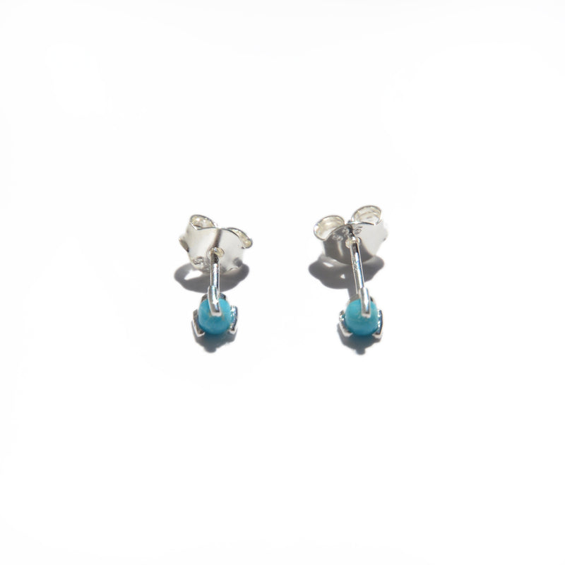 EARRINGS - TASHI - STERLING SILVER - TURQUOISE