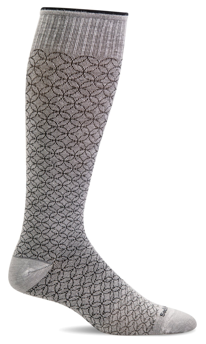 SOCKS - SOCKWELL GRADUATED COMPRESSION - FEATHERWEIGHT FANCY, NATURAL