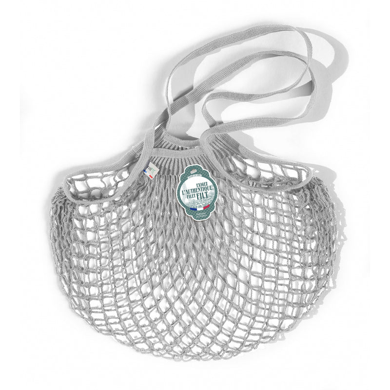 NET SHOPPING BAG - LARGE HANDLES - GREY