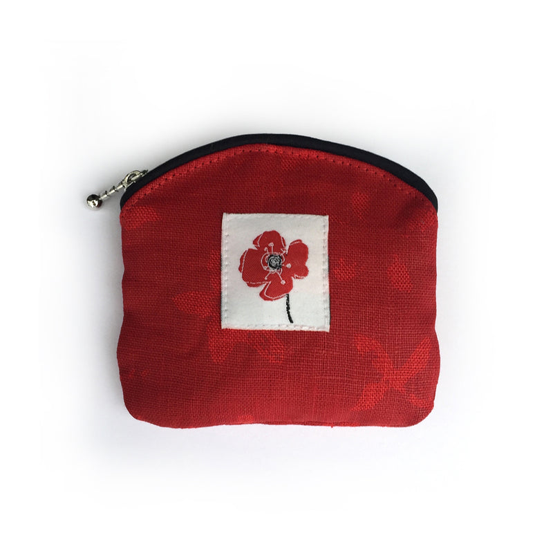 COIN PURSE - POPPY RED