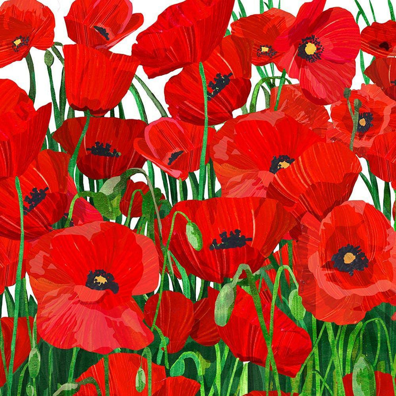 NAPKINS - LUNCH - RED POPPIES