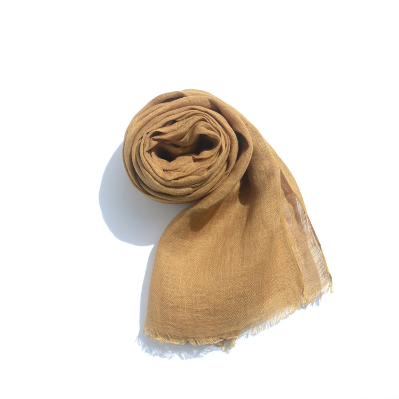 SCARF - LINEN, BROWN