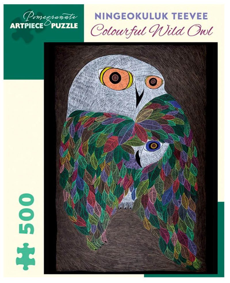 PUZZLE - COLOURFUL WILD OWL