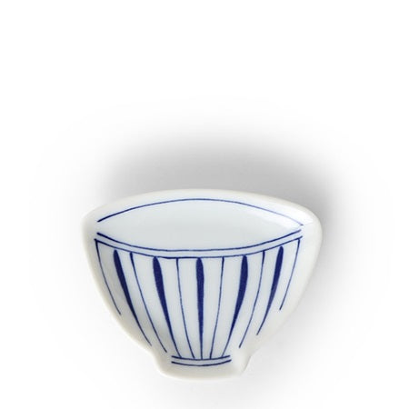 "CERAMICS - MINI PLATE 3.75"" TEACUP STRIPE"