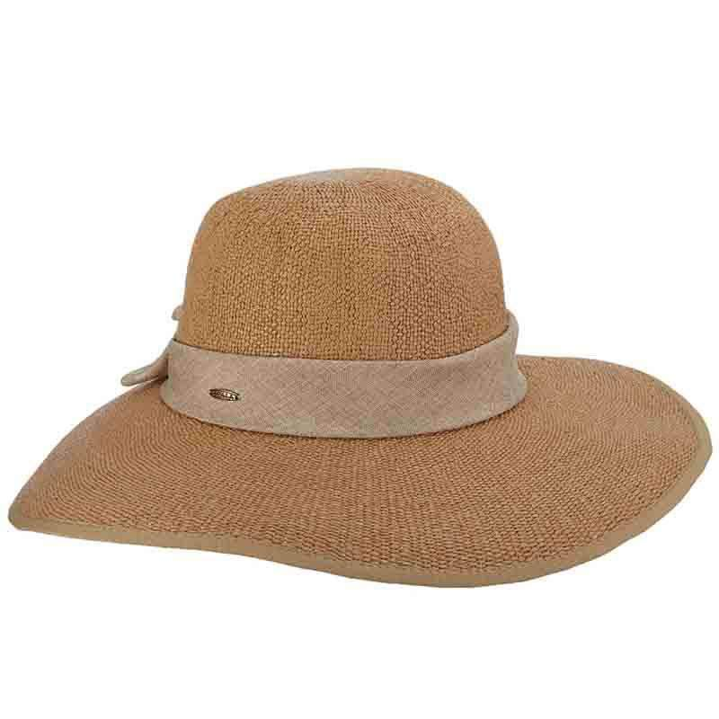 HAT - SPLIT BRIM SUMMER FLOPPY HAT - TOAST