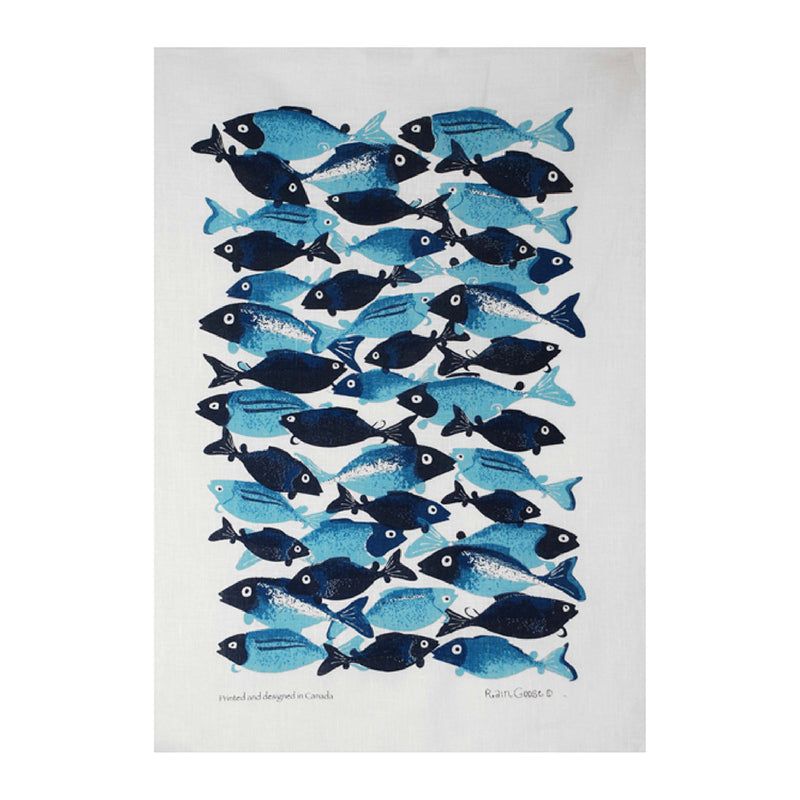 TEA TOWEL - BLUE FISH