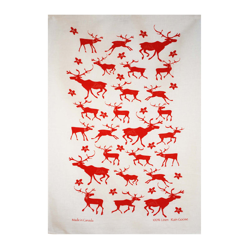 TEA TOWEL - BOO RED
