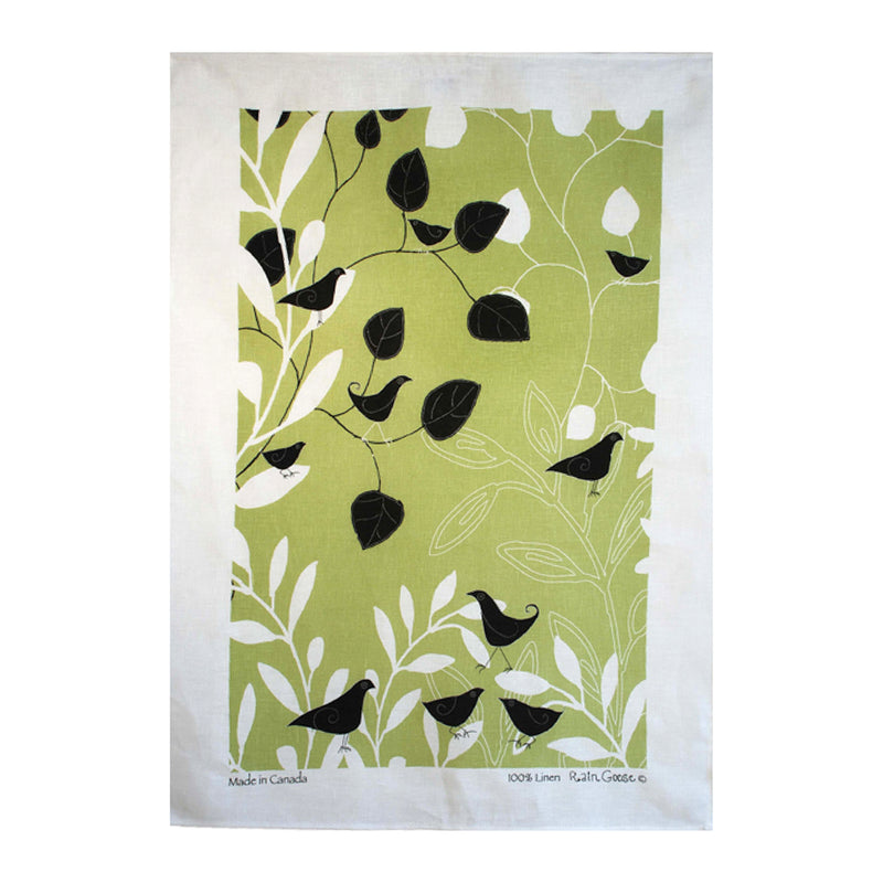 TEA TOWEL - BOT BIRD GREEN