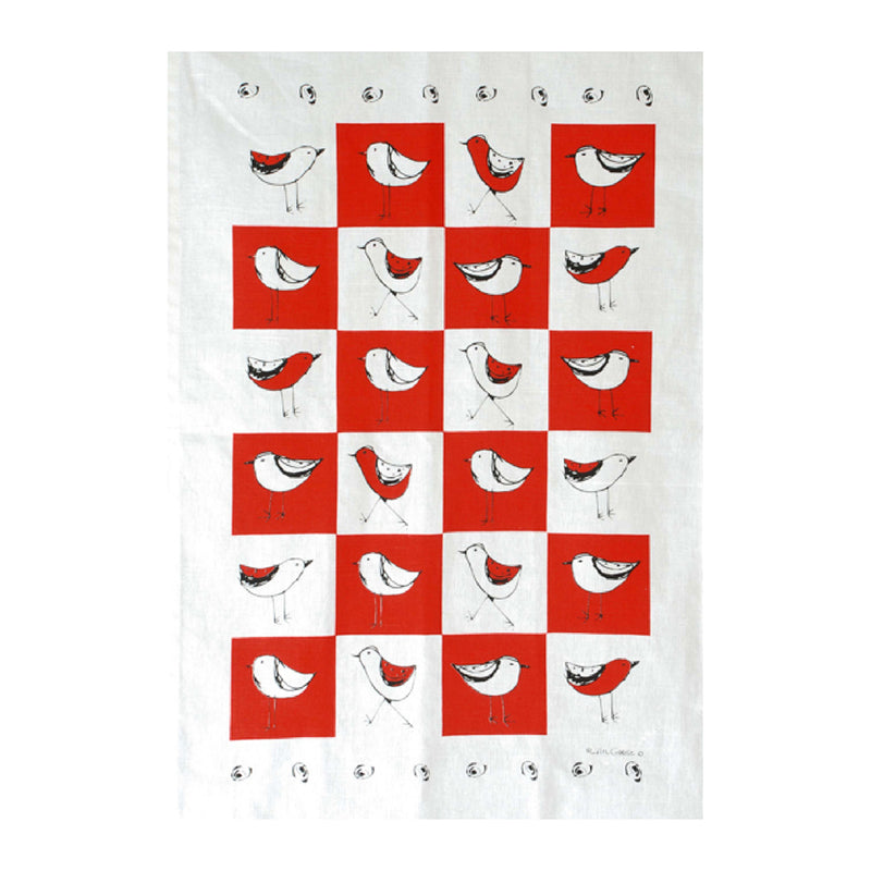 TEA TOWEL - RED BIRD