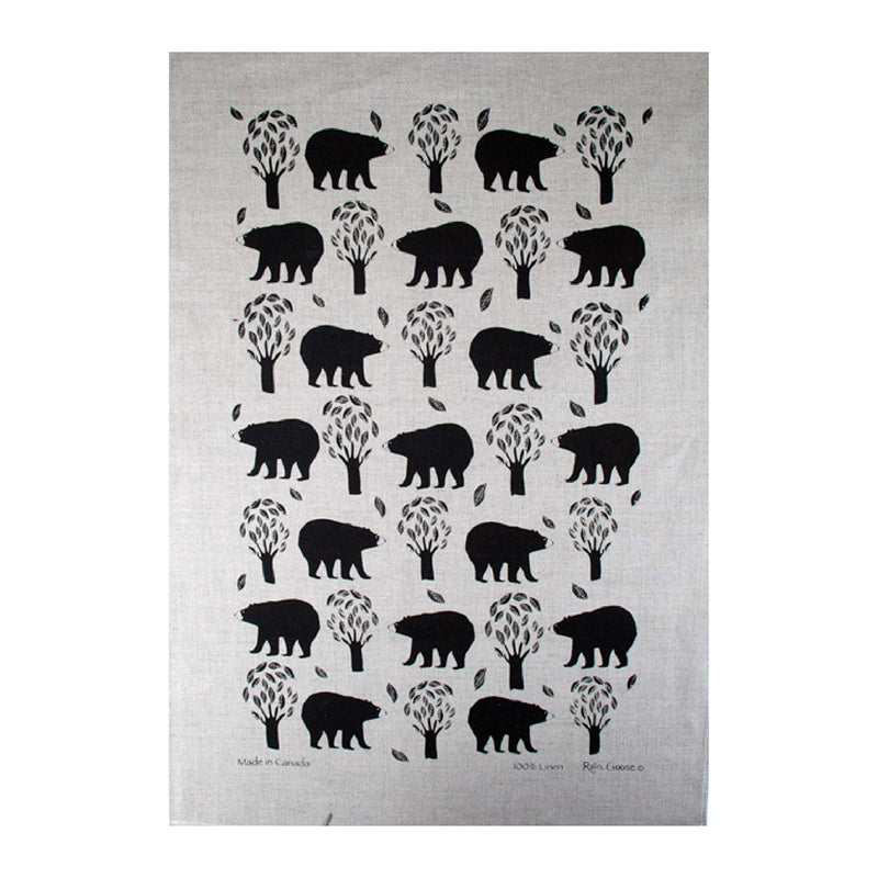 TEA TOWEL - WOODLAND BEAR OATMEAL
