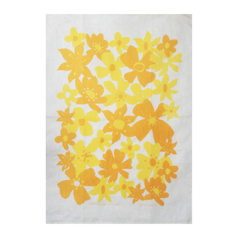 TEA TOWEL - FLOWERS YELLOW