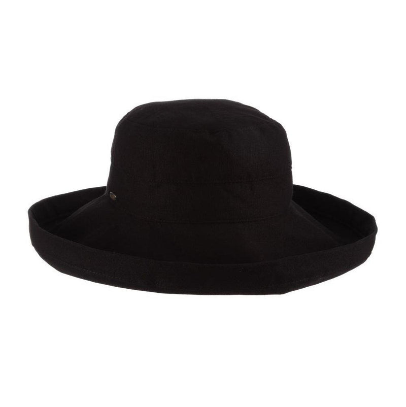 HAT - COTTON - WIDE BRIM - BLACK