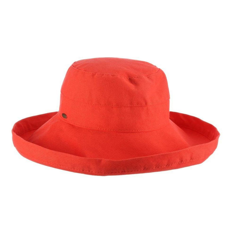HAT - COTTON - WIDE BRIM - CORAL
